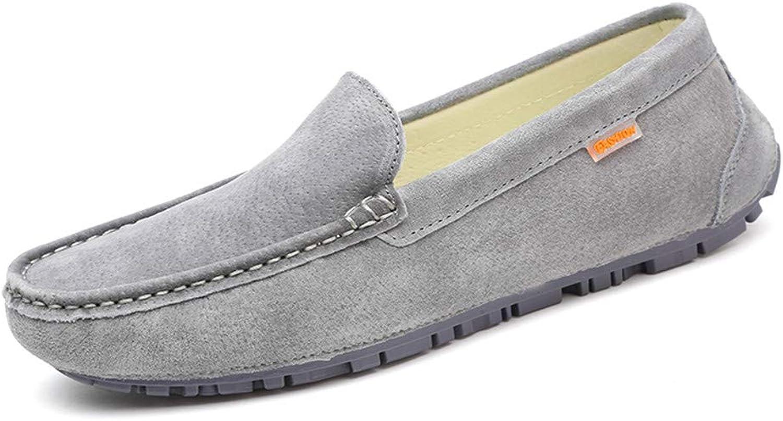 Hongjun-schuhe, Frühjahr Sommer 2018 Herren Mokassins, Men's Drive Loafers, Freizeitkleidung mit weichen Ledersohlen Stiefel Mokassins (Farbe   Grau, Größe   44 EU)  | Zu verkaufen