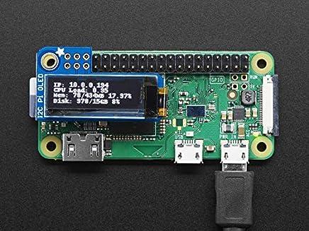 Adafruit [3527 PiOLED - 128x32 Monochrome OLED Add-on for Raspberry Pi