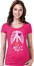 Halloween Pregnant Skeleton Xray Costume Cute Pregnancy Maternity Shirt