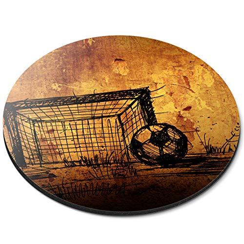 RM14385 Tapis de Souris Rond Motif But de Football Grunge