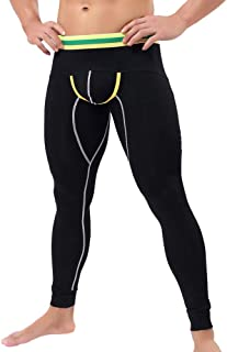 20ba9e999ebd YOcheerful Men Thermal Underwear Pants Modal Long Thermal Tight Pant  Underpants Sexy Shapewear Underwear Leggings Pant