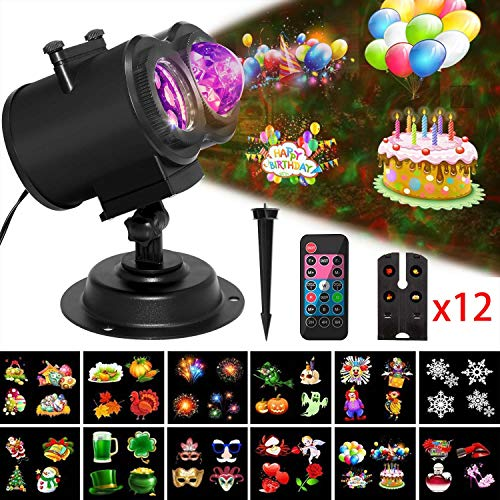 Valentine's Day Projector Light with Ocean Wave, Remote Control, Timer, Moving LED Patterns,Waterproof Decorative Outdoor&Indoor Lighting for Birthday, Party, Yard, Garden, Kid's Room