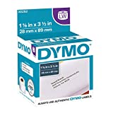 DYMO Authentic LW Mailing Address Labels | DYMO Labels for LabelWriter Label Printers (1-1/8' x 3-1/2'), 2 Rolls of 350 (700 Total)
