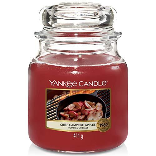 Yankee Candle Duftkerze im Glas (mittel) | Crisp Campfire Apples | Brenndauer bis zu 75 Stunden