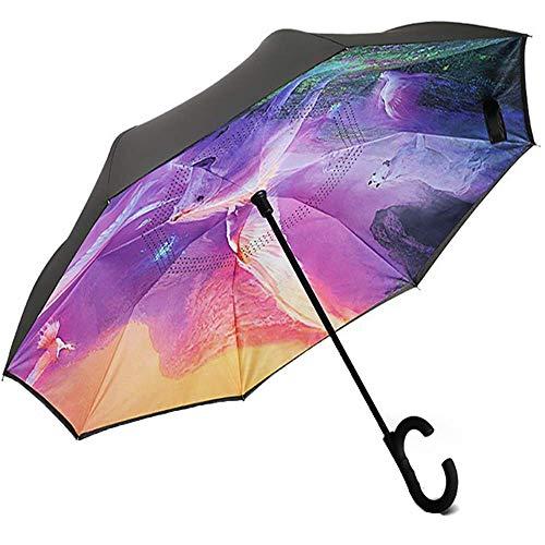 ZHANGYY Faltbarer kompakter Regenschirm Winddichtes Design Hochwertiger klappbarer Regenschirm Geschenkschirm Werbung Regenschirm