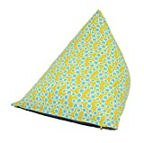 Yogibo Zoola Pyramid Outdoor Bean Bag Chair for Kids, Small Single Beanbag, Water Resistant Patio Deck Furniture, Uniquely Shaped, Summer