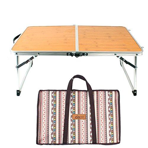 Childlike Klapptisch Campingtisch, Mini Faltbar Camping Tisch, Klapptisch Garten, Bambus- Und Bambustisch