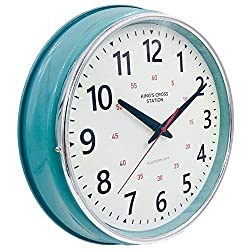 YAVIS LIN'A3 Countryside Style Metal Wall Clock, Retro/Vintage Wall Clock, Non Ticking Silent, Easy to Read for Living Room/Kitchen/Bedroom/Office 12.4 Inch