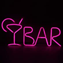 LED Neon Light, Yinuoday BAR Letters Neon Cocktail Sign Partytent Word Tekens met Afstandsbediening Decoratieve Licht Muur...