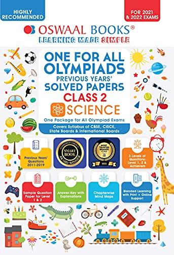 Oswaal One for All Olympiads Previous Years Solved Papers, Class-2 Science Book (For 2021-22 Exam)