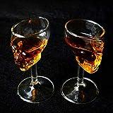 DHJZS 2 Pcs hogar Creativo Cóctel Bar cráneo cáliz Copa Whisky Copa de Vino Vodka Esqueleto Retro...