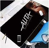 ZDVHM Erweiterte Gaming Mouse Pad Battle Angel Alita Spiel übergroße Tastatur Mauspad Café Mat...