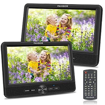 📀 【2 TFT & HD Pantallas】 Hay dos LCD pantallas, uno es de reproductor principal, y otro es de monitor. Ellos están conectados por el cable, el reproductor principal se puede transmitir el señal y la poder a la monitor por el cable AV y cable DC direc...