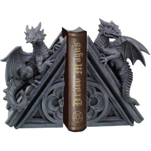 2er Set Buchstützen Drachen Figur Dragon Drache