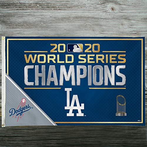 "Rico 2020 Los Angeles ""LA"" Dodgers World Champions Banner Flag - 3' x 5'"