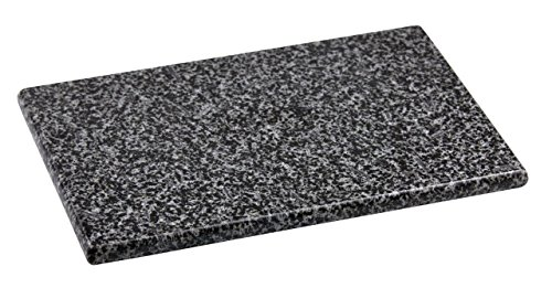 Home Basics Granite Cutting Board, Serving Board, Cheese Board, Display of Appetizers (8' x 12', Grey)