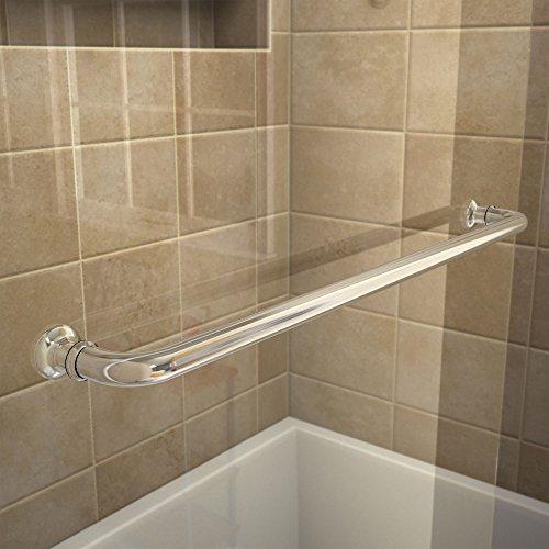 DreamLine Aqua Swing 34 in. W x 58 in. H Frameless Tub Door in Chrome, SHDR-3734580-01