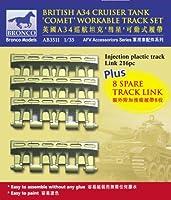 ブロンコモデル 1/35 コメット 巡航戦車用可動キャタピラ プラパーツ はめ込み式 プラモデル用パーツ CBA3511