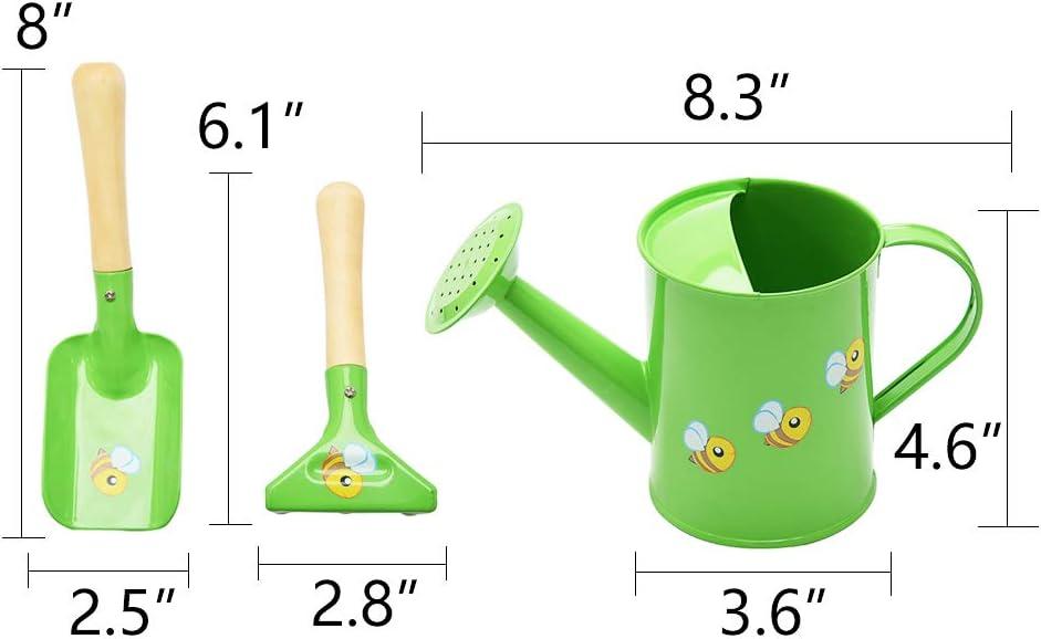 Sungmor Juego de Herramientas de jard/ín para ni/ños el Paquete Incluye 3 Piezas de rociadores y Herramientas de jardiner/ía de rastrillo y Pala Hermoso y Bonito Kit de jardiner/ía