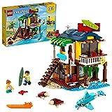 LEGO 31118 Creator 3 en 1 Casa Surfera en la Playa, Set de Construcción con Faro y Casa de Verano con Piscina