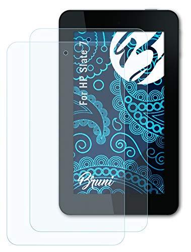 Bruni Schutzfolie kompatibel mit HP Slate 7 Folie, glasklare Bildschirmschutzfolie (2X)