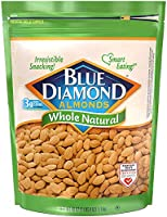 Blue Diamond Almonds Whole Natural Raw Snack Nuts, 40 Oz Resealable Bag (Pack of 1)