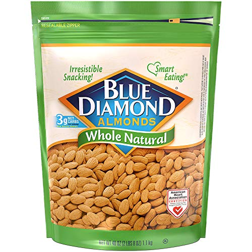 Blue Diamond Almonds Raw Whole Natural 40 Oz