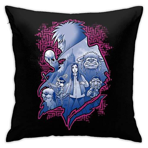 WH-CLA Throw Pillow Covers Laberinto De Montaje De Personajes Funda De Cojín Decorativa para El Hogar Sofá Acogedor Sofá con Cremallera Funda De Almohada De Anime Funda De Almohada Person