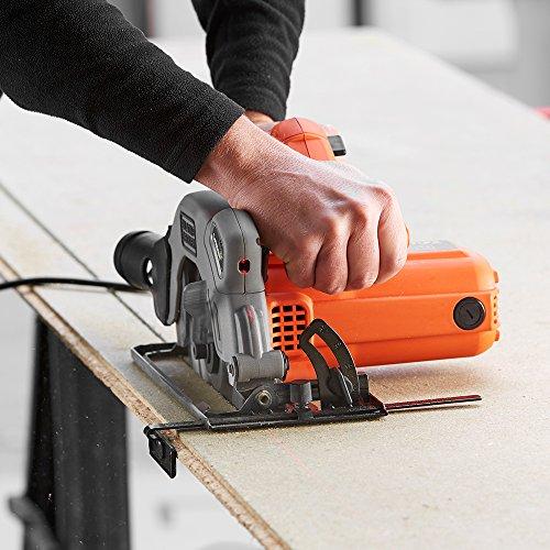 BLACK+DECKER CS1250L-GB Circular Saw, 1250 W, 66 mm - Orange, 1 Piece