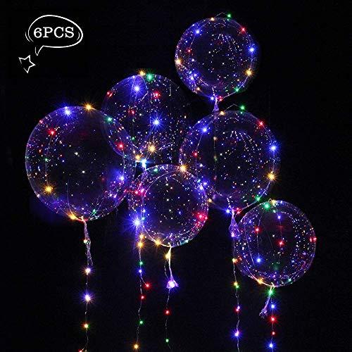 Parsion 6 Stück Helium Balloon Gas Leucht Luftballon Weiss Zuhause Dekoration Zum Party Hochzeit Weihnachten Festival …