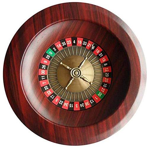 zyy Trinken Roulette-Spiel Klasse 12 Inches Casino Deluxe Holz Roulette-Spiel Spaß Unterhaltung Erholung Tables,Messing