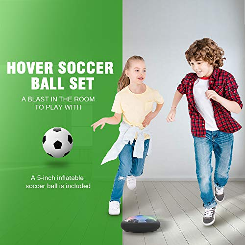 An indoor hover soccer ball is a fun indoor sports toy for kids to stay active
