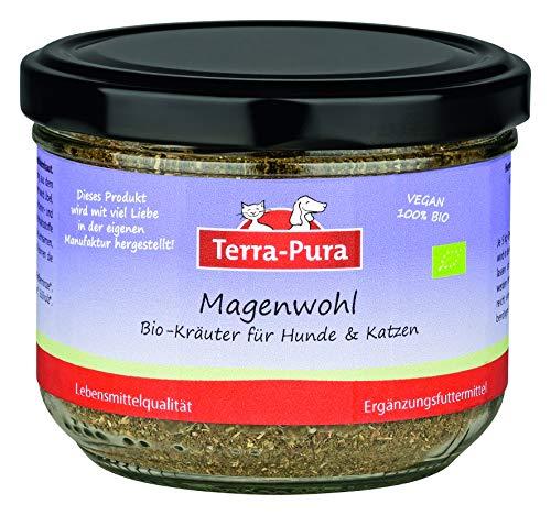 100% Bio-Kräutermischung für Hunde und Katzen, Magenwohl, pflegen und beruhigen die Magenschleimhaut, Kräuterkur, 80 g