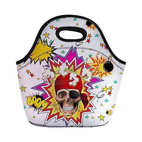 Nopersonality tendance Tête de mort Sac à lunch box Tote Cooler Sac réutilisable Adorable, Skull-7, Taille M
