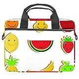 TIZORAX Borsa per laptop Sweet Fruit Smile Notebook Sleeve con manico 15-15,4 pollici Borsa a tracolla