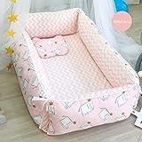 Neugeborene Liege-Abnehmbare Babybett, Atmungsaktive und Hypoallergene Baumwolle für Kleinkinder Kleinkinder-Matratze aus 100% Baumwolle für Schlafzimmerreisen