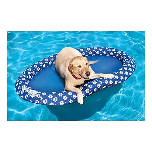 SwimWays Spring Float Paddle Paws Dog Pool Float -...