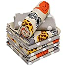 """Ruvanti 4 Pack Multi-Color Baby Receiving Blanket.100 % Cotton Flannel Receiving Blanket. Extra Large (30 X30"""") Baby Blanket for boy/Girl .Warm and Cozy Toddler Blanket for Infants, Babies, and Kids."""
