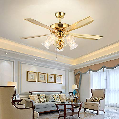 48-inch Indoor Silent Ceiling Fan, European Style Ceiling...