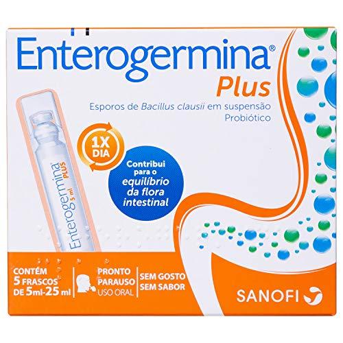 Probiótico Enterogermina Plus, 5 unidades de 5 ml