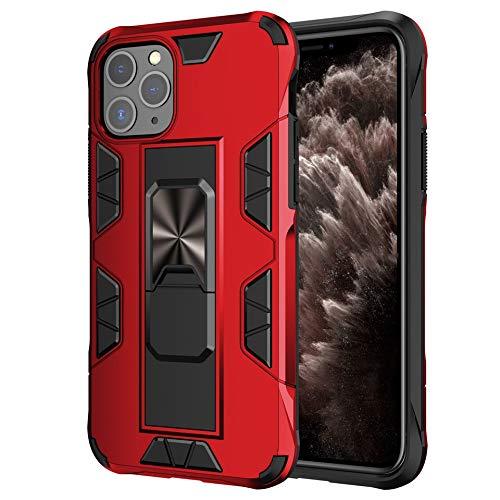 HHF - Funda para iPhone 12/12 PRO / 12 PRO max 12 Mini, soporte magnético, antigolpes, para iPhone 12 Pro máx. 11 pro máx. (color rojo)