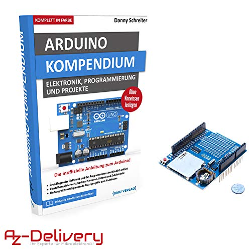 AZDelivery Map Map Large Arduino Compendium Book with Free Data Logger