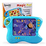 Boxiki Kids Toddler Tablet and Learning Pad with 10 Educational Cards   Kids Smart Pad and Board Game w/Touch and Learn Functions   Learn Animals, Colors, Words, Spelling and More. Ages 3 Years+