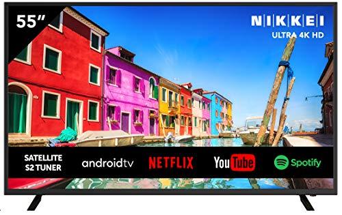 Televisión NIKKEI NU5518S de 140 cm/ 55 Pulgadas (Smart TV con WiFi Integrado, Ultra HD/ 4K, 3840 x 2160, 3X HDMI, 2X USB, guía electrónica de programas)