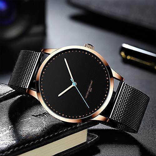 Voigoo Uhr for Männer beiläufige Quarz Herrenuhr einzigartigen kühlen Sport-Uhren Rose Gold Siebband wasserdichte Uhr Relogio Masculino
