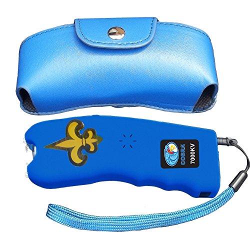 Cobra 7 Million Volt Stun Gun CSP-007 - Rechargeable with Flashlight & Best Self Defense Features (Blue)