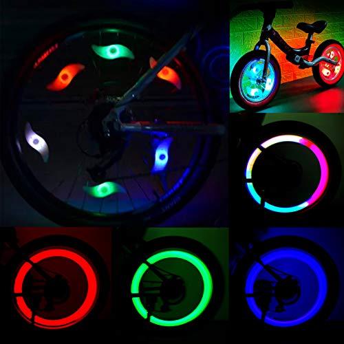 Sunshine smile 8 Stück Speichenlichter Fahrrad, Fahrradlampe, Mehrfarbig, Fahrradlichter Speichenlicht, LED-Lichter für Fahrradspeichen,Speichendekorationen Wasserdicht für Fahrrad,Fahrradzubehör