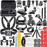 Neewer Kit de Accesorios de Cámara de Acción 58 en 1 para GoPro Hero 7 6 5 4 3+ 3 2 1 4/5 Sesión, SJ4000/5000, Nikon y Sony Deporte DV para Montar Camping y Más