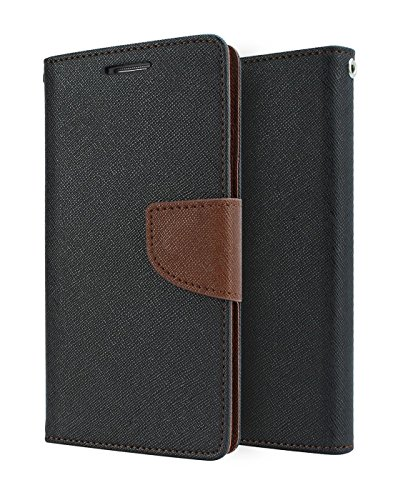 Dr2s Fashion Retail Drop-Protection Rugged PU Leather Wallet Flip Book Cover Case for Microsoft Lumia 535 - Brown