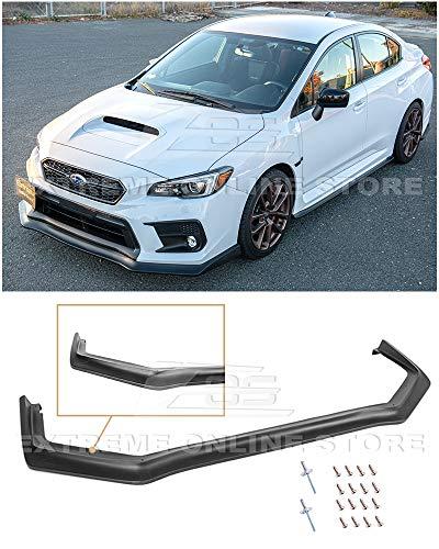 Replacement For 2018-Present Subaru WRX & STi JDM CS Style Front Bumper Lower Lip Spoiler Ground Effects (Polypropylene - Primer Black)